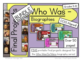 *BUNDLE* Who Was Biography Series Final Projects - Fill-in