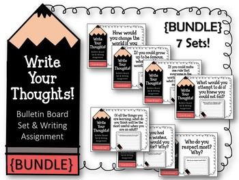 {BUNDLE} Write Your Thoughts. Bulletin Board Sets. Writing