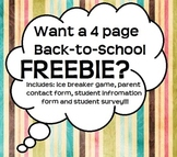* Back To School * FREEBIE!!!
