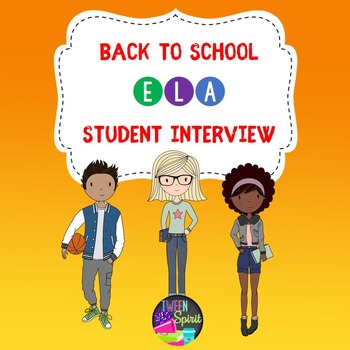 Back to School Student Interest Inventory for Middle and H