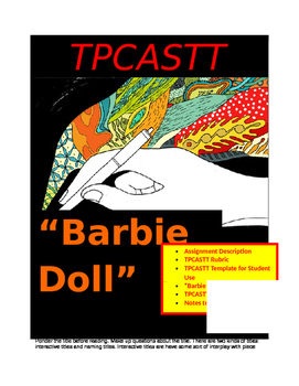 """""""Barbie Doll"""" (Piercy) ~ TPCASTT Packet (7 pages)"""