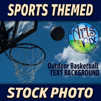 "! ""Basketball hoop and Basketball"" - Stock Photo - Sports"