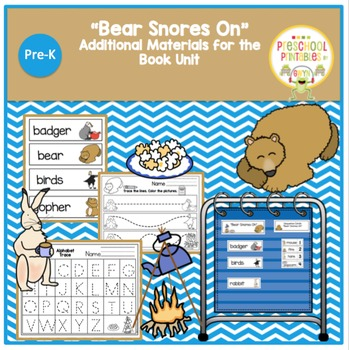 """""""Bear Snores On"""" Additional Materials for Book Unit"""