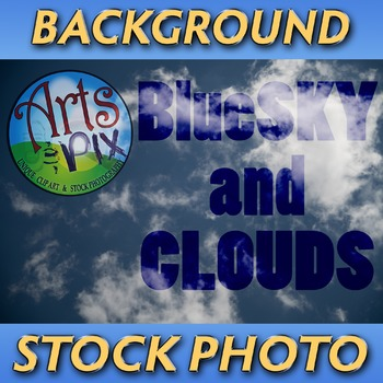 "! ""Blue Sky and Clouds"" - Photograph - Sky Background - St"