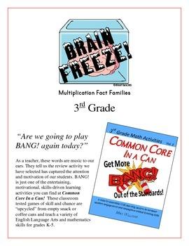 """Brain Freeze!"" Multiplication Fact Families 3rd Grade Com"