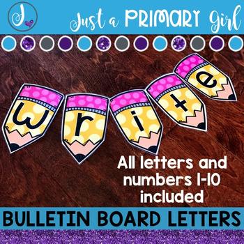 ~*Bulletin Board Letters: Pencil