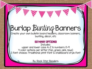 {Burlap} Bunting Alphabet Letters & Numbers *Tons of Options*
