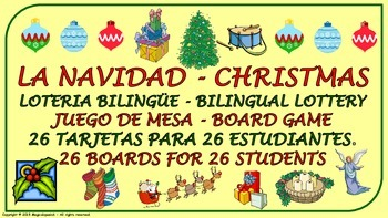 """""""Christmas Vocabulary"""". Lottery (Board Game)."""
