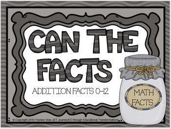 """Can"" the Addition Facts"