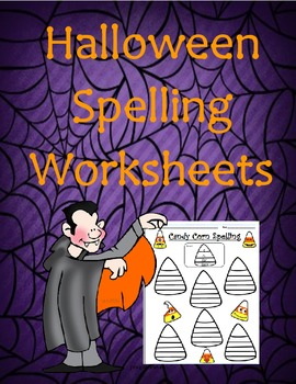 * Candy Corn Spelling Worksheet * Free - Halloween (Octobe