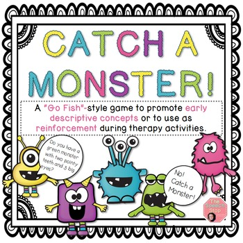 Catch a Monster - Halloween Game for Attributes and Reinforcement