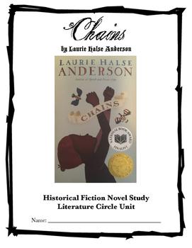"""""""Chains"""" Literature Circle Novel Unit"""