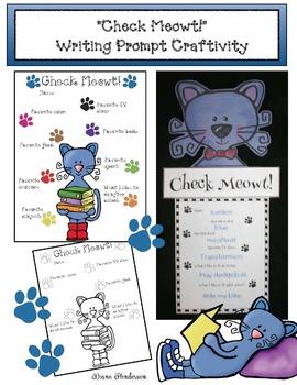 """Check Meowt!"" Writing Prompt Craftivity"
