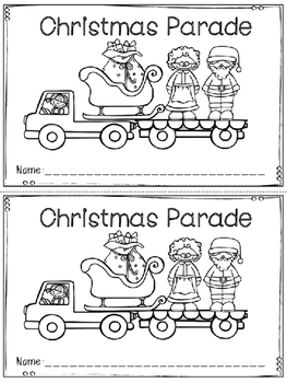 """Christmas Parade"" Emergent Reader (A Christmas/December D"