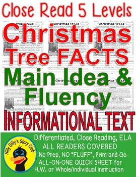 Christmas Trees Close Read 5 Levels Informational Text Flu
