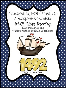 """Christopher Columbus"" 3-6th CCSS Aligned Close Reading Te"