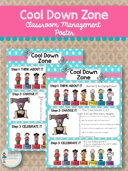 """Cool Down Zone"" Classroom Management Poster"