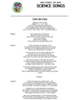 """""""Cool Like Cane"""" Lyric Sheet, Worksheet, and Answer Key"""