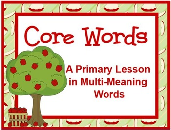 """Core"" Words An Activity in Multi Meaning Words"