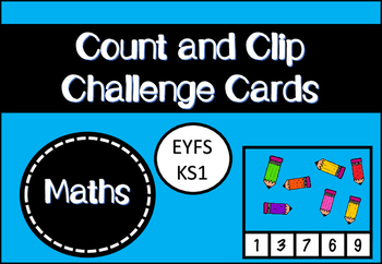 Count and Clip Challenge Cards