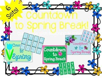"""Countdown to Spring Break"" Bulletin Board Set / Counting"