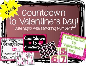 """Countdown to Valentine's Day"" Bulletin Board Set"