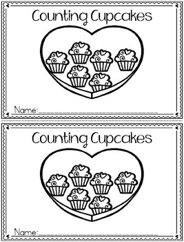 """""""Counting Cupcakes"""" (Counting/February Emergent Reader Dol"""