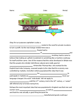 """Crash Course"" Capitalism Worksheet & Key"