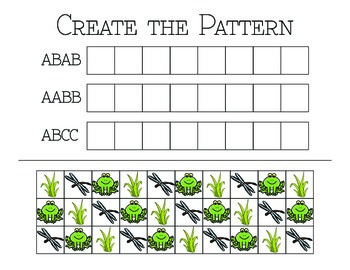 """Create the Pattern"" Worksheet"