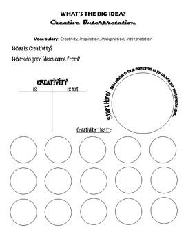 "Art Class Printable: ""Creativity Test"""