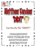 "Matthew Kandew ""DIDIT"" - Addition and Subtraction Puzzle W"