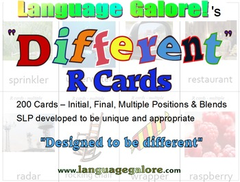 """""""Different"""" R Cards - Set of 200"""