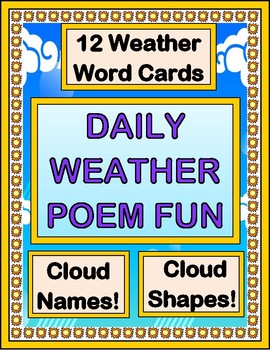 """""""Daily Weather Poems!"""" -- Cloud Names and Weather Word Poe"""
