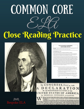 """""""Declaration of Independence"""" Nonfiction Close Reading Pra"""