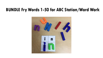 *Discounted Bundle* Magnetic Letter ABC Station/Word Work