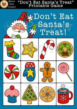 """Don't Eat Santa's Treat!"" Printable Game [Don't Eat Pete]"