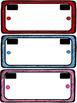 EDITABLE License Plate Name Tags