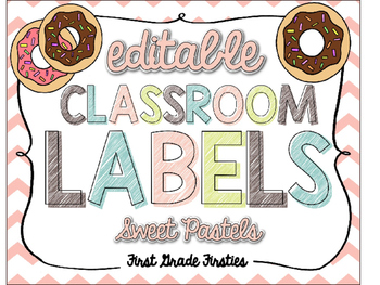 [[ EDITABLE ]] Sweet Pastels Labels
