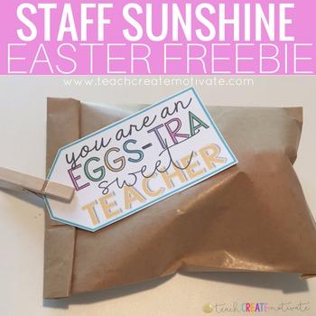 """EGG""stra Sweet Teacher Tag: Staff Sunshine"
