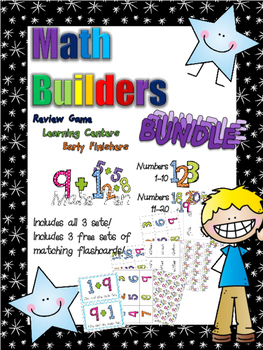 *Print and Play* Math Builders - Memory Games - Basic Numb