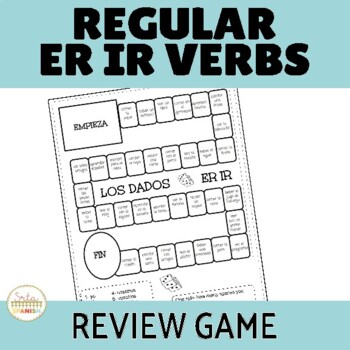 -ER/-IR Regular Verbs Review Game