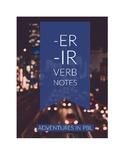 -ER/-IR Verb Notes