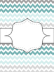 {Editable} Binder Covers! {Turquoise, Black, & Grey}