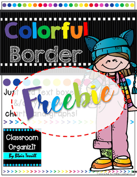 {Editable} Colorful Borders Portrait {Freebie}
