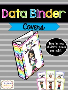 {Editable} Data Binder Covers & Spines