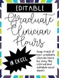{Editable} SLP Graduate Clinician Hour Excel Spreadsheets