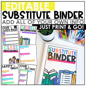 *Editable* Substitute Binder {color & black line}