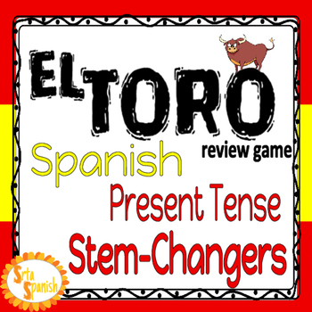 ¡El Toro! Review Game for Present Tense Stem-Changing Verbs