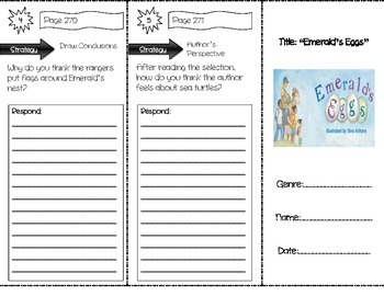 """Emerald's Eggs"" Comprehension Trifold (Storytown Lesson 10)"