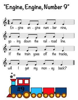"""Engine, Engine, Number Nine"" Sheet Music"